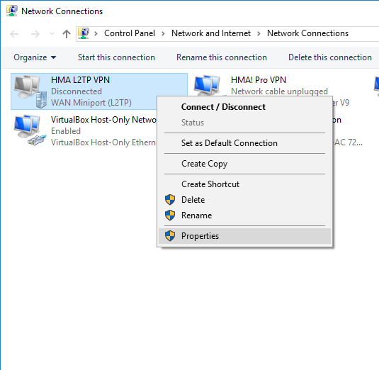 Windows 7 & 10 L2TP connection setup – Hide My Ass! Support