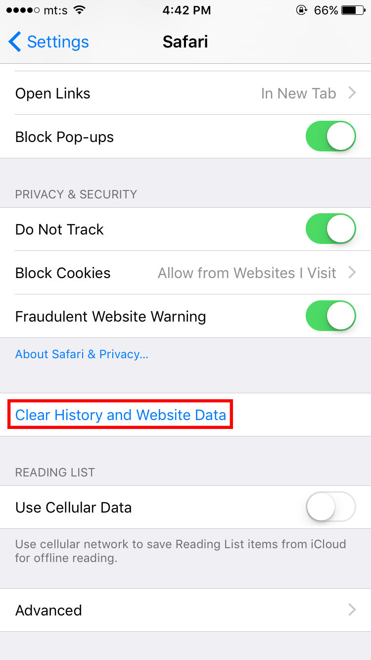 Scroll Down And Find Clear History And Website Data (please Note That Will Remove  Your Savedrmation Like Passwords, Remembered Emails And Similar)