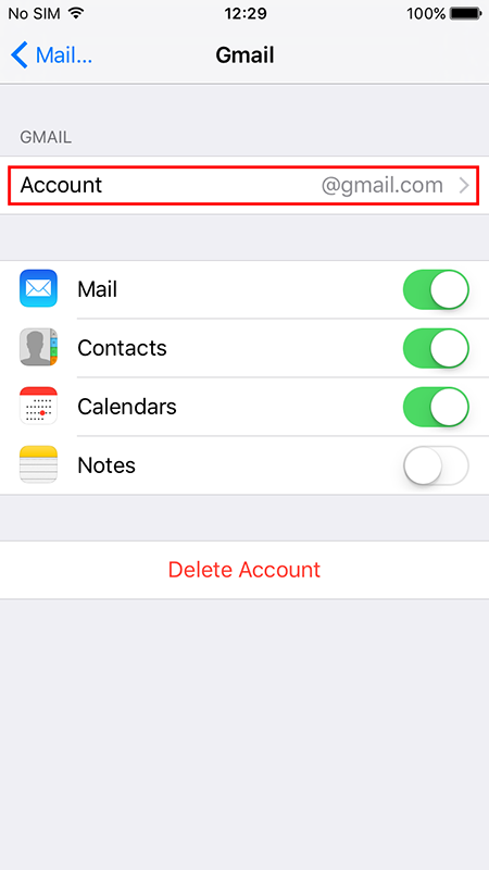 Setting up POP/IMAP email on an iPhone Image 2